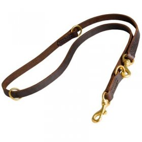 Multifunctional Leather Samoyed Leash