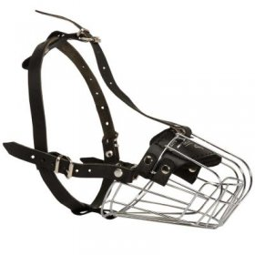 Wire Basket Samoyed Muzzle for Comfortable Walking and Training