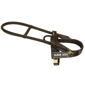 Samoyed Guid Harness Leather for Dog Assistance